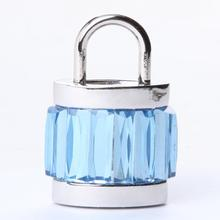 100% Real Capacity Crystal Lock USB Flash Drive Jewelry Necklace 8GB 16GB 32GB 64GB Memory Card Stick Pen Gift Pendrive Drives(China)