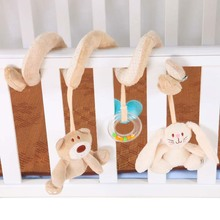 Baby Rattle Bed Stroller Hanging Spiral Activity Rabbit Musical Mobile Bell Toy Educational Rattles Toys Car Hanging Rattles(China)