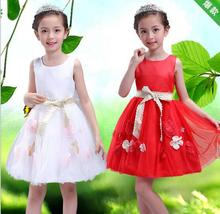 Princess Dress 2017 New Little Girl Wedding Dress Elegant Cute Girls Birthday Party Dresses Fashion Princess Belle Costume
