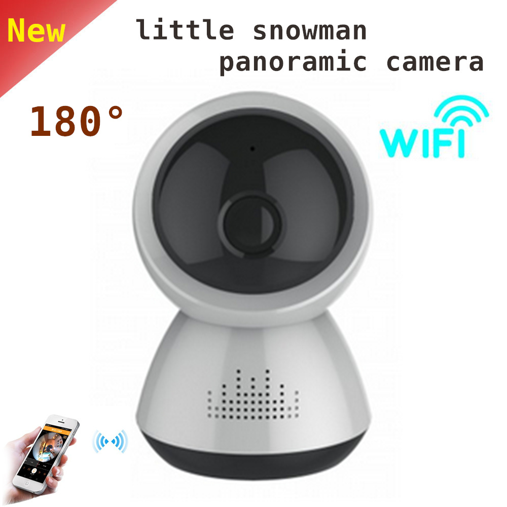 2mp Little Snowman Panoramic Camera Wifi IP Camera 180 Degree View Night Vision Mini Wireless Camera Baby Monitor <br>