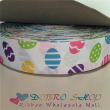 "Big Sale 100Yds 1.5"" 38mm Colorful Eggs Easter Printed Grosgrain Ribbon,Tape for Crafts,Party/Tree Decorations,Gift Packaging"