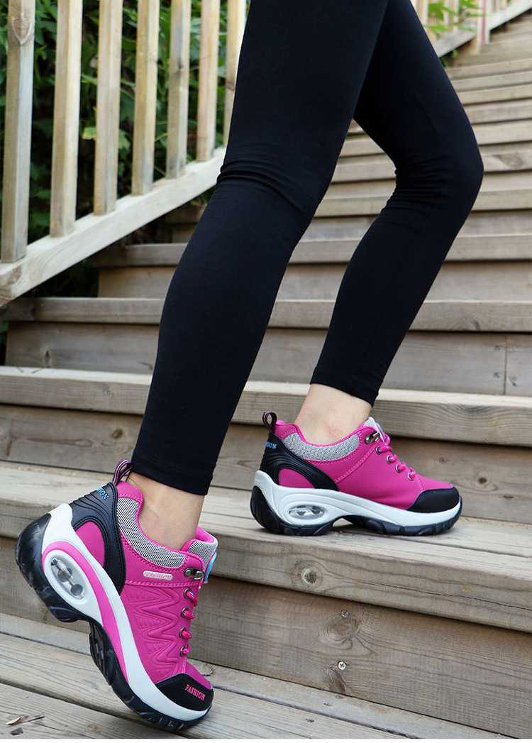 17 High quality Sneakers women shoes Running shoes woman leather Sport Shoes Air damping Outdoor arena Athletic zapatos mujer 16