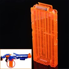 Orange 12 Dart Quick Reload Clip System Darts Holder for Toy Gun Nerf N-Strike Blaster Toy Gift