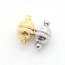 5~20Pcs HOT Strong Magnetic /Rhinestone Ball Magnetic Clasps For Necklace Bracelet Chain Buckle Hook Jewelry Findings(China)