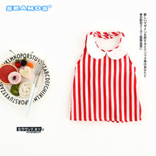 2017 new arrive baby clothes Infant baby collar shirt red white stripe girls clothing NZ150