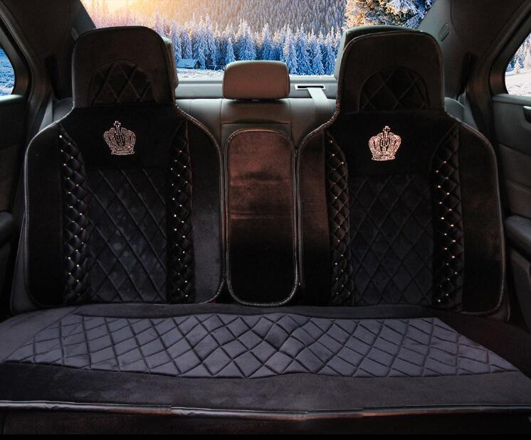 Styling-Stud-Crystal-Plush-Car-Seat-Covers-Universal-Cute-Car-Interior-Accessories-Cushion-Black-5