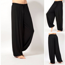! Unissex Casual Jogger Calças Largas Calças Jumpsuit Harem Pants Inferior(China)