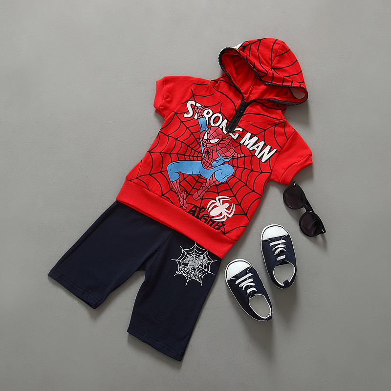 New Spider Man Children Clothing Sets Boys Spiderman Cosplay Sport Suit Kids Sets jacket + pants 2pcs. Boys Clothes<br><br>Aliexpress