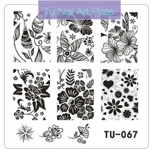 New Square Nail Art Stamping Plates 6*6 CM Flower Lace Wave Nail Stamping Stamper TU 48-67 DIY Polish Manicure Tools 2017 Hot