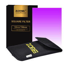 "Zomei 100x150mm Square Filter Graduated Color Purple Filter For Cokin Z-Pro Lee Hitech 4X6"" Holder(China)"