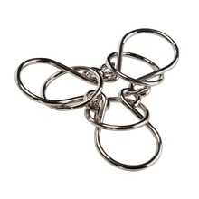 2017 Classic IQ Metal Wire Ring Toys Kid Brain Teaser Metal Wire Puzzle Educational Funny Toy Adults Chained Metal Ring Puzzles