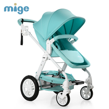 Mige Strollers For Dolls Light and Inflatable Wheel Baby Carriage(China)