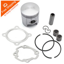 Motorcycle 47mm Piston Kit with Gasket Ring 10mm 12mm Pin For Scooter JOG 50cc 70cc 2 stroke engine yamaha minarelli 1pe40qmb(China)
