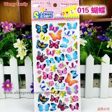 Very Nice Butterfly stickers,Butterfly Flowers model stickers For Children's Room fashion decoration stickers