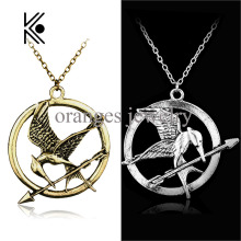 The Hunger Games Katniss Everdeen Cosplay Accessories Metal Mockingjay Pendent Chain Alloy Necklace Mocking Jay Movie Jewelry
