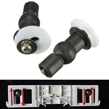 2Pcs High Quality toilet seat hinges blind hole fixings expanding rubber top fix nuts screws