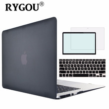 RYGOU New Matte Hard Cover Macbook Air 13 Case Shell A1369 A1466 Laptop Bag Case Mac Book Air 13.3 inch Protective Cases