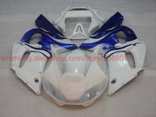 YZFR6 1998 - 2002 2000 Abs Fairing YZF600 R6 01 02 White Blue Fairing for YAMAHA YZFR6 2001 Fairings(China)