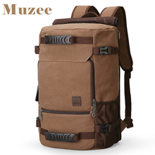 MUZEE New Backpack Men Canvas Backpack Large Capacity Bag for Travel Backpack 15.6inch Laptop Backpack(China)