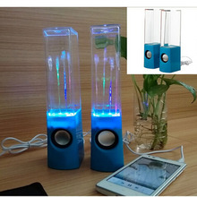 Gosear USB Power Supply Portable LED Dancing Water Music Fountain Speakers For PC Laptop Mobile Phone