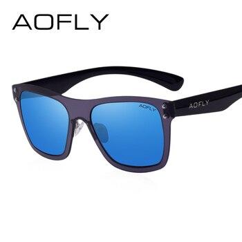 Aofly originais óculos de sol das mulheres dos homens rivet estilo de design da marca óculos de sol para homens moda decoração clássica eyewear uv400 af6024