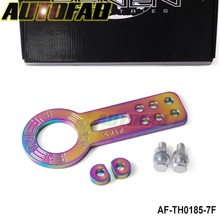 AUTOFAB - NEO-Chromatic plating Universal Anodized Front Tow Hook Billet CNC Aluminum Towing Kit For JDM Racing AF-TH0185-7F