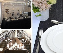 Hot 120x200cm Black/Champagne/Gold Sequin Tablecloth Rectangle Style For Wedding/Party/Banquet Wedding Decoration Table Cloth