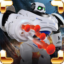 New Arrival Gift RC Robot Shooting Electric Toys Program Display Machine Creative Game Radio Control Battle Dance Learning Tool(China)
