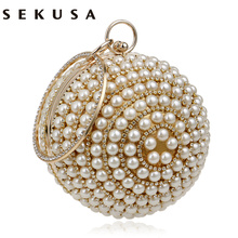 Women's Pearl Beaded Evening Bags Factory Selling Pearl Beads Clutch Bags Handmade Wedding Bags Beige, Black Quality Assurance