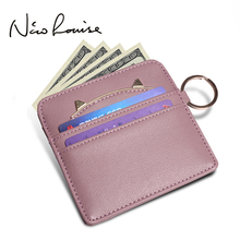 Latest Fashion Women Coin Purses Holders Lovely Cat Ear Cash Credit Card Holder Wallet Girls Key Chain Money Kids Leather Purse