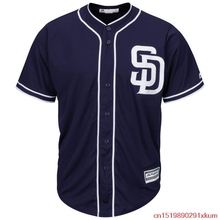 MLB Men's San Diego Padres Baseball Navy/White Alternate Cool Base Jersey(China)