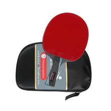 Professional Table Tennis Racket Ping Pong Paddle Bat Blade Carry Case Long Handle Short Handle Rubber Wood Racket Table Tennis
