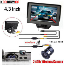 Buy Koorinwoo Wireless Car Monitor 800*480 Digital LCD TFT Display Auto Rearview camera Parking Assist Sensor Parking System for $29.99 in AliExpress store