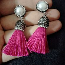 Yellow Green Blue Vintage Short Tassel Earrings Women Nature Pearl Dangle Drop Earrings Womens Bohemian Earring Fashion Jewelry(China)