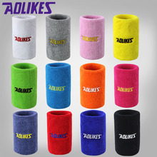 AOLIKES 7.5*11cm Gym Wristbands Hand Towel Wrist Support for Tennis Basketball Sports Sweatbands Cotton Wrist Bracer A-0230
