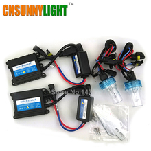 CNSUNNYLIGHT Xenon Hid Conversion Kit 35W H1 H3 H7 H8 H10 H11 H9 9005 9006 HB3 HB4 Lamp w/ Slim Ballast Block for Car Headlight(China)
