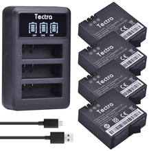Buy Tectra 4Pcs AZ16-1 1400mAh Li-ion Battery xiaomi yi + LED USB 3-Slot Charger Xiao mi yi 4k 4k+ Action Camera 2 for $20.80 in AliExpress store