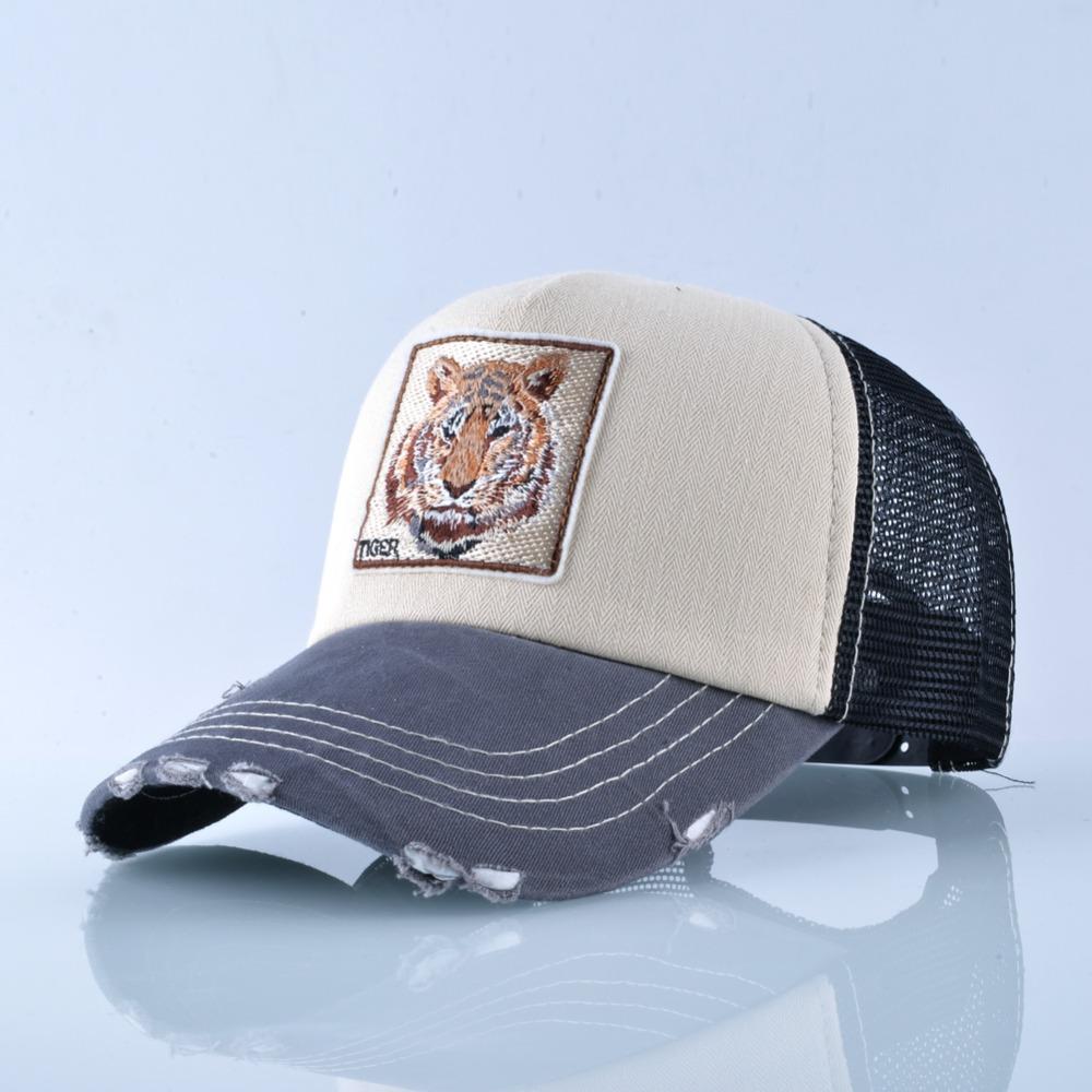 Fashion Unisex Patch Bones Wolf Embroidery Hip Hop Hats Breathable Mesh Baseball Caps Men Women Casquette Summer Trucker Gorras 5