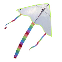 Sports Kite Folded Painting Kite Without Handle Line Outdoor Toys Flying Papalote Toy Nylon Colorful Beach Kites Outdoor Tool