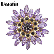 Fashion Crystal Flower Brooch Pin Clothes Accessories Christmas Gift Costume Jewelry Brooches For Wedding Bridal Z013