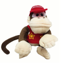 2017 Hot Sales Brand Free Shipping 1pcs Super Mario Bros Donkey Kong 14CM Plush Doll Diddy Kong Macacos Animais(China)