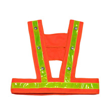 LED Reflective Vest Kids Reflective Safety Vest flashing light with reflective stripes child safety warning vests Work Clothing(China)