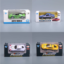 Alloy Retro Vintage Mini Car American Diecasts Vehicles Model Gift Education Toys Pullback Acousto-optic