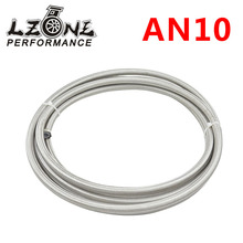 LZONE RACING - AN10 Double braided Stainless steel Teflon Racing Hose Fuel Oil Line AN10(ID:14MM,OD:19MM) JR7514