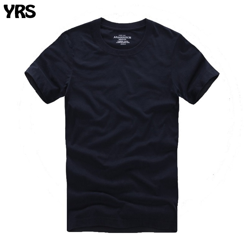 Men af t-shirt 100% cotton solid O-Neck short sleeve tshirt high quality(China)