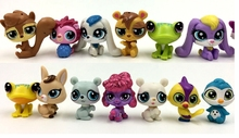 15pcs/lot PVC 3-3.5cm Anime figure random send Little Pet Shop action figure set collectible model toys for girls