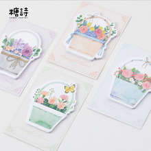 40pcs/Lot Beautiful flowers in full bloom memo pad Journal sticky note Post it note Gift Stationery Office School supplies GT383