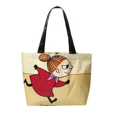 Moomin Little My Handbags Women Shouder Bag Reusable Shopping Bag Eco Friendly Cute Cartoon Printing Tote Bags(China)
