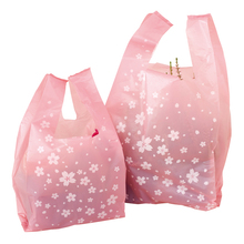 200pcs Pink Cherry Plastic Gift Bag,Grocery Bakery Shopping Take out Bags,t shirt bags(China)