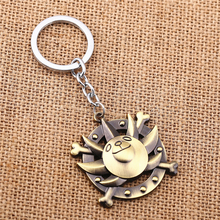 J Store Anime Cartoon One Piece Thousand Sunny Logo Bronze Keychain Cosplay Jewelry Keyring porte clef sleutelhanger JJ11477